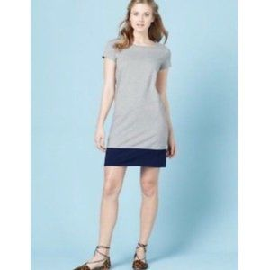 Boden Slub Tee Colorblock Dress Gray & Navy 12